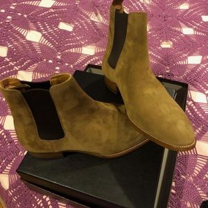 YSL SUEDE ANKLE BOOTS